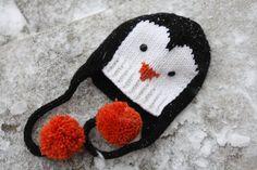 Penguin Hat Knitting Pattern