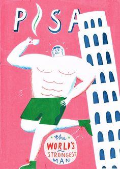 Worlds Strongest Man - Max Machen Illustration