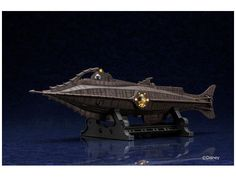 "20,000 Leagues Under the Sea Nautilus 16"" Diecast Lighted Display Model X-Plus - Click Image to Close"