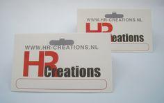 Bedrukte Headerkaarten in 2 kleuren met eurolock voor HR-creations.nl