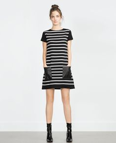 FAUX LEATHER DRESS-View all-Dresses-WOMAN   ZARA United States