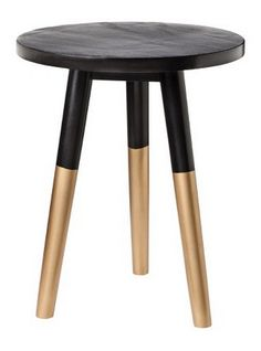 Black and Gold Accent Table