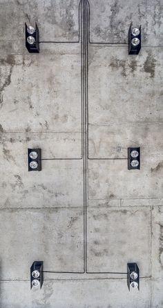 Industrial Interior Design, Industrial House, Office Interior Design, Bathroom Interior Design, Exterior Design, Loft Interiors, Office Interiors, Concrete Ceiling, Concrete Interiors