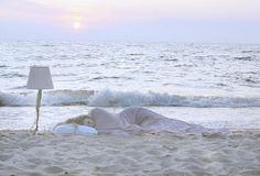 Sleep on the beach