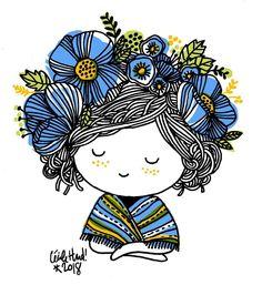 15 ideas for watercolor art frida Art Et Illustration, Illustrations, Watercolor And Ink, Watercolor Paintings, Dibujos Cute, Plate Art, Easy Drawings, Doodle Art, Bunt