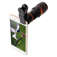Phone Camera Lens Kit Cellphone Camera Lens 12X Telephoto Lens High Definition 12X Magnification Monocular Lens 12X Focus Lens *** Click image for more details. (This is an affiliate link)