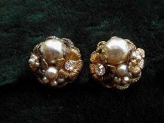 Miriam Haskell Baroque Pearl Earrings