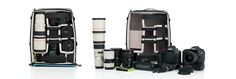 Pro Large ICU shown with packed and unpacked gear including: 1.4x teleconverter, 1dIV, 2x teleconverter, Canon 7D, 24-70mm f/2.8L II, 24-105 f/4L, 400mm f/5.6L, FC wallet, LC-E4 charger and 1D battery, LC-E6 charger and 7D battery
