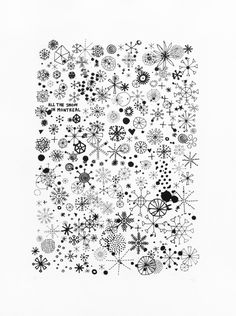 Organized Chaos: Whole School - Lines and Shapes for Snowflake Wrapping Paper