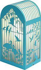 lampe cage à oiseaux découpe laser