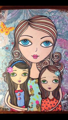 A mother's love Art by Mayra Arroyo Mother Daughter Art, Mother Art, Mother And Child, Bff Drawings, Arte Pop, Mothers Love, Beautiful Paintings, Rock Art, Female Art