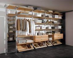 mueble vestidor metal madera