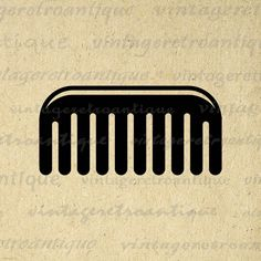 Printable Image Comb Digital Comb Icon Graphic Salon Barber