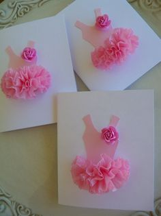 ballerina party invites/thank yous made with tulle