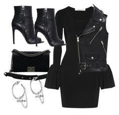 Untitled #3964 by dkfashion-658 on Polyvore featuring polyvore Elizabeth and James Yves Saint Laurent Pierre Balmain Chanel Eddie Borgo fashion style clothing