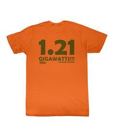 Orange '1.21 Gigawatts' Tee - Toddler & Kids #backtothefuture