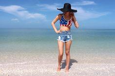 Omg Fashion Usa Top, Omg Fashion Studded Shorts, Zara Hats