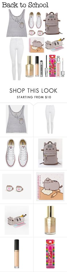 """""""#PVxPusheen"""" by millieisabellanicol ❤ liked on Polyvore featuring Pusheen, Topshop, Converse, Stila, Too Faced Cosmetics, Bare Escentuals, Christian Dior, contestentry and PVxPusheen"""