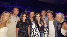 Julianne Hough, Tim Tebow, Nina Dobrev, Hailee Steinfeld, Derek Hough, and Riawna Capri at Super Saturday Night