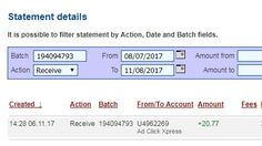 Anyone can make money with ACX without leaving home! I am getting paid daily at ACX and here is proof of my latest withdrawal. This is not a scam and I love making money online with Ad Click Xpress. Join for FREE and get 10$ Tripler pack from ACX to get you started earning 6% per day. Earn 150% on Tripler Packs in 30 days. Spend as much as you want. My #22 Withdrawal Proof of online income from Ad Click Xpress Tripler.