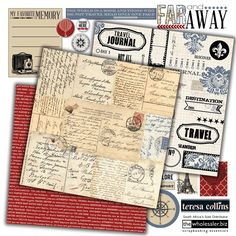 Create an authentic travel journal full of trip highlights and sightseeing with Teresa Collins Far and Away Collection. Far and Away has a nostalgic feel and features beautiful double sided Scrapbooking Paper, Washi Tape, Brads and much much more.