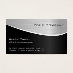 Black Steel Effect Professional Business Card