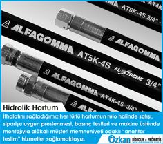 We provide turn-key services that focused on customer satisfaction with the sales of all kind of hose that we import; hose pressing, pressure tests and installation on the machine. @Özkan Hidrolik @Alfagomma