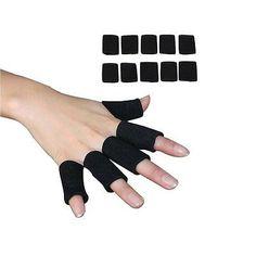 7231a8f38d9 Arthritis Elastic Nylon Sport Protective Finger Sleeve Support Cover - Black