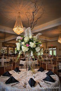 Wedding centerpiece NC Wedding Ceremonies and Receptions at The Hudson Manor Estate