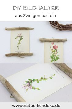 DIY picture holder made of branches Natural wall design - hang pictures on branches. Branch decoration, picture frames, branches, decorating with branches, . Diy Nature, Picture Wall, Picture Frames, Cadre Photo Diy, Marco Diy, Home Crafts, Diy And Crafts, Diy Wanddekorationen, Branch Decor