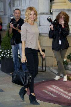 Sienna Miller arrives at the San Sebastian Film Festival.
