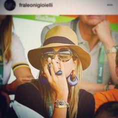 Koningin Maxima tijdens de Olympische spelen in Rio gespot met Fraleoni ring en oorringen #fraleoni #rainbowcollection #earrings #enamel #925silver #nichelfree #queen #maxima #lovely #colors #rio2016 #olympics2016 #madeinitaly #rome #newyork #lasvegas #holland #belgium #luxury #glamour #jewels #sluis #openeveryday