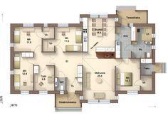 Aitotalo A156-10  aitotalo.fi Floor Plans, Home, Ad Home, Homes, Haus, Floor Plan Drawing, House Floor Plans, Houses
