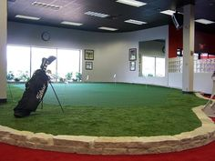 Indoor putting greens that have personality! So many different layouts.