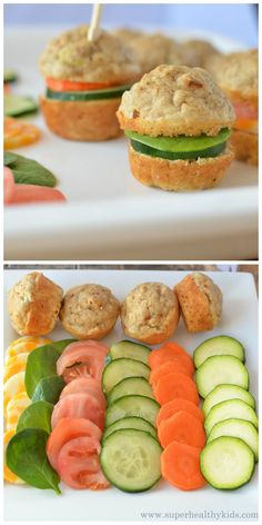 We love taking these mini-veggie muffins in our lunch box instead of a sanwhich! http://www.superhealthykids.com/mini-veggie-muffin-sandwiches/