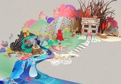 Artist Sam Pierpoint creates amazing 3D paper illustrations  #graphicdesign #illustration #paper