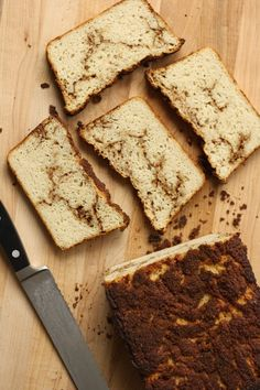 Making gluten free bread can be difficult, but not when it comes to this Cinnamon Swirl Gluten Free Bread. This recipe is easy to make and delicious to eat. Gluten Free Bread Recipe Easy, Gluten Free Recipes For Dinner, Gluten Free Sweets, Sugar Free Recipes, Foods With Gluten, Gluten Free Baking, Sin Gluten, Bread Machine Recipes, Bread Recipes