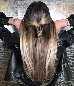 """1,518 Likes, 13 Comments - Mane Interest (@maneinterest) on Instagram: """"Want. This. Hair by @dkenvy  #hair #hairenvy #hairstyles #haircolor #bronde #fishtailbraid…"""""""