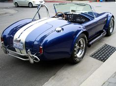 """1966 Shelby AC Cobra 427  (I saw Dan Blocker [Hoss in """"Bonanza""""] driving one of these in L.A.  He almost took up both seats.)"""