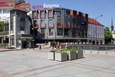 modern urban space with flower pots Tube TerraForm