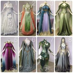 Old school, elvish gowns, oooh the purple one!!!                                                                                                                                                                                 More