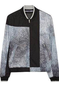 5bce679071d Harvey Nichols - KENZO Printed cotton bomber jacket Garniture Grise