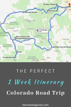 Here is a perfect 1 week itinerary for a Colorado road trip that will take you to the most epic places Colorado has to offer. Here is a perfect 1 week itinerary for a Colorado road trip that will take you to the most epic places Colorado has to offer. Colorado National Parks, Gunnison National Park, Road Trip To Colorado, Colorado Hiking, Road Trip Map, East Coast Road Trip, Road Trip Hacks, Alberta Canada, Aspen