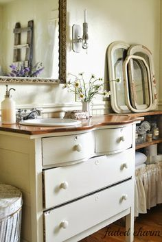Shabby chic Bathroom Vanities Dressers as sinks