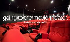 Going to the movie theater Is a weekly event on our calandar it gives me time to escape from life and chill out.......