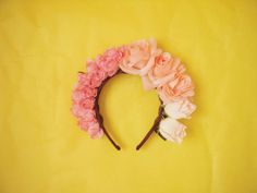 Pink Ombre Rose Crown by Bricochan on Etsy, $20.00