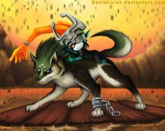 The Legend of Zelda: Twilight Princess, Wolf Link and Midna / Link and Midna by Daniel-Link on deviantART