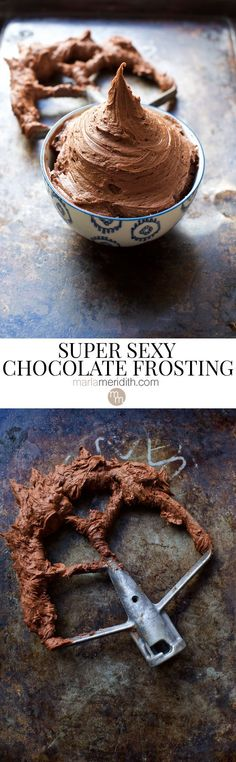 This is the ultimate Chocolate Frosting recipe. This buttercream is great for all of your cakes, cupcakes and maybe even better licked from a spoon! Chocolate Icing Recipes, Chocolate Torte, Chocolate Buttercream Frosting, Chocolate Fondant, Best Chocolate, Chocolate Desserts, Cake Fillings, Cake Toppings, Cupcake Recipes