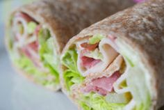 200 calorie recipes: A turkey pastrami wrap is a perfect healthy lunch
