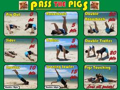 Yoga meets Pass the Pigs in this fan-created score sheet replica!